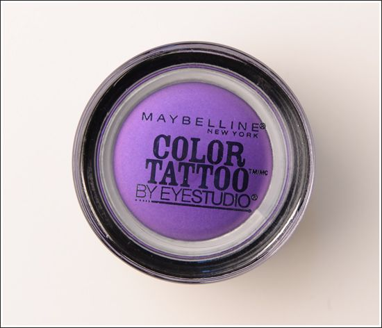 Maybelline Painted Purple Color Tattoo 24 Hour Eyeshadow Review Photos Swatches Gel Eyeshadow Maybelline Eye Studio Maybelline Color Tattoo