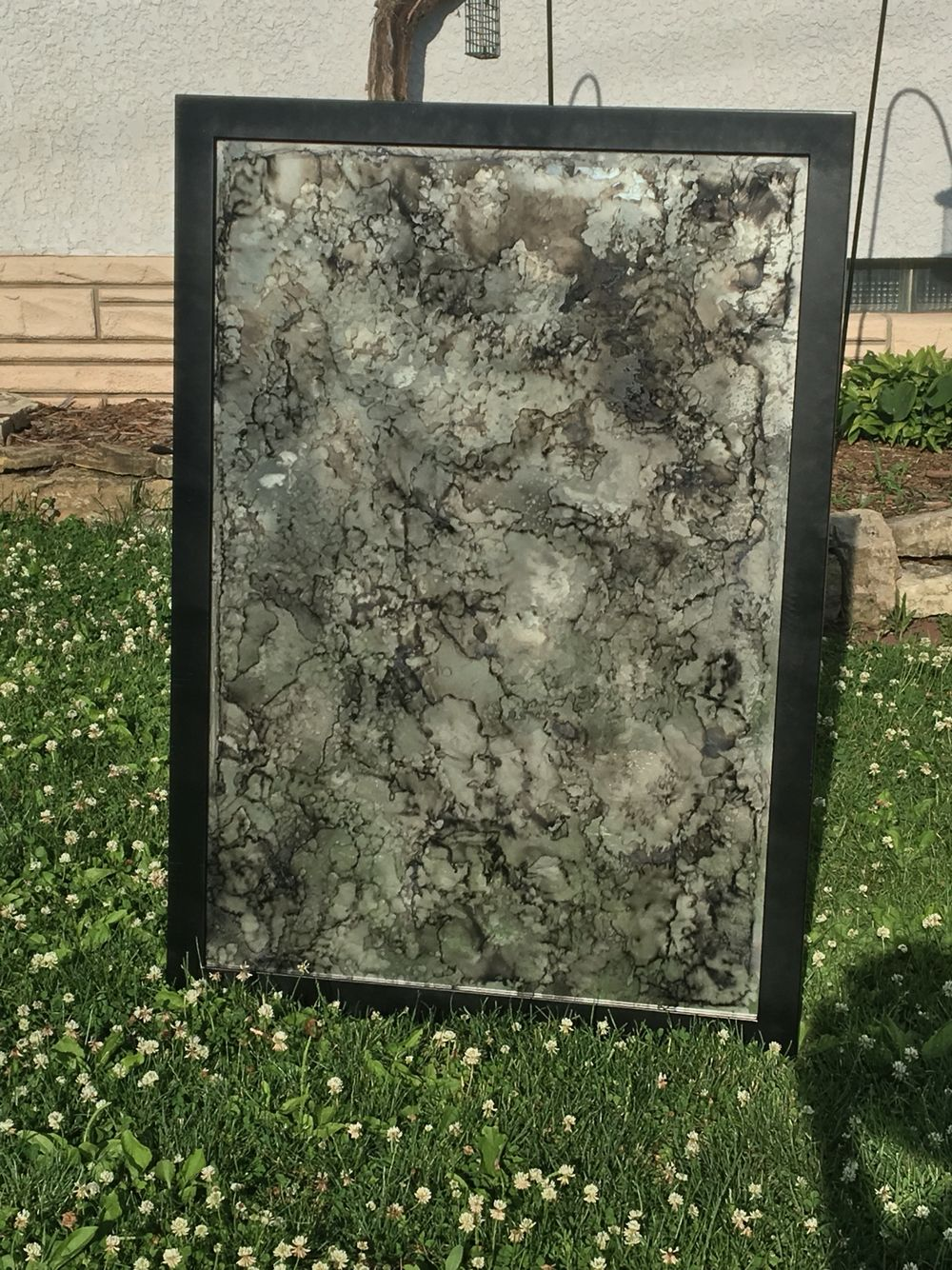 Diy Painted Mirror Using Spray Paint Acetone And Fire I
