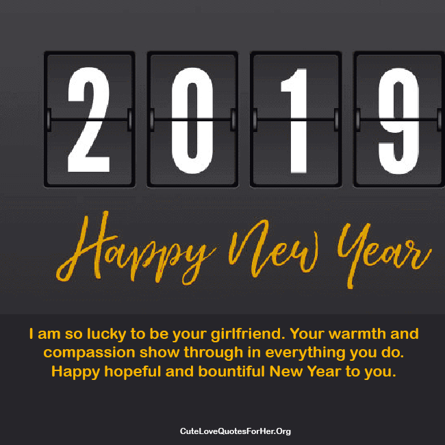 2019 new year love wishes for girlfriend to inspire her