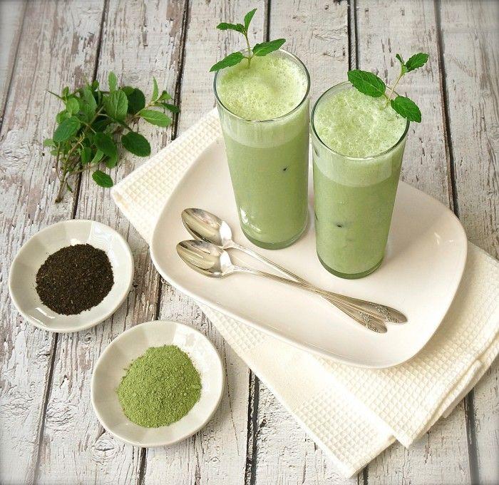 Iced Minty Matcha Green Tea Latte