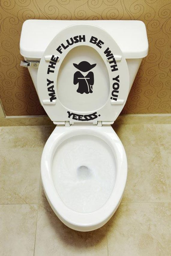 May The Flush Be With You Yoda Toilet Seat Decals By JobstCo