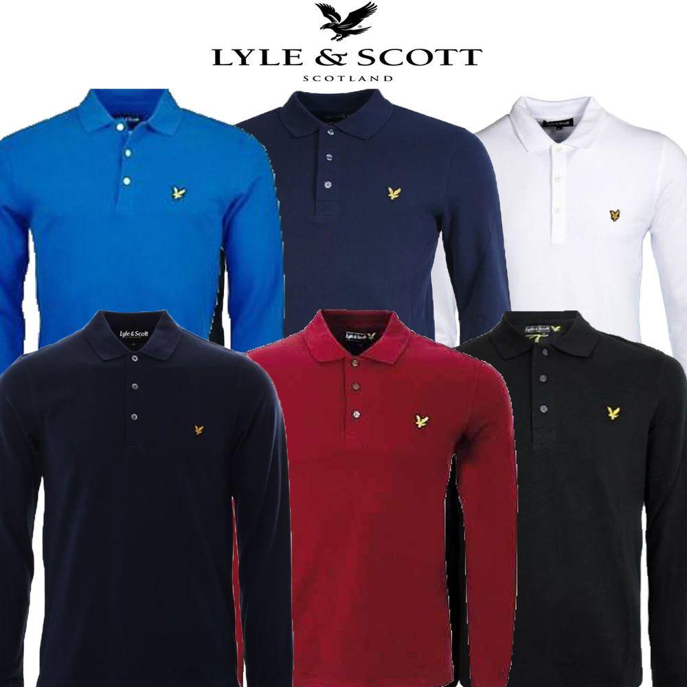 Unitedkingdomshoppers 1899 Lyle And Scott Long Sleeve Polo Ampamp Shirt Red