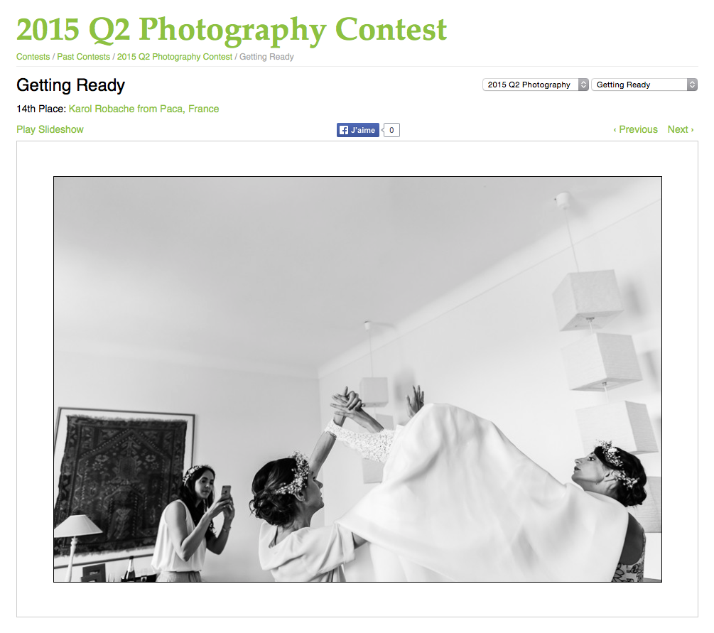 Karol R. Photographie - wpja photography contest - Photo gagnante - 14th Place: Getting Ready - 2015 Q2 Photography Contest