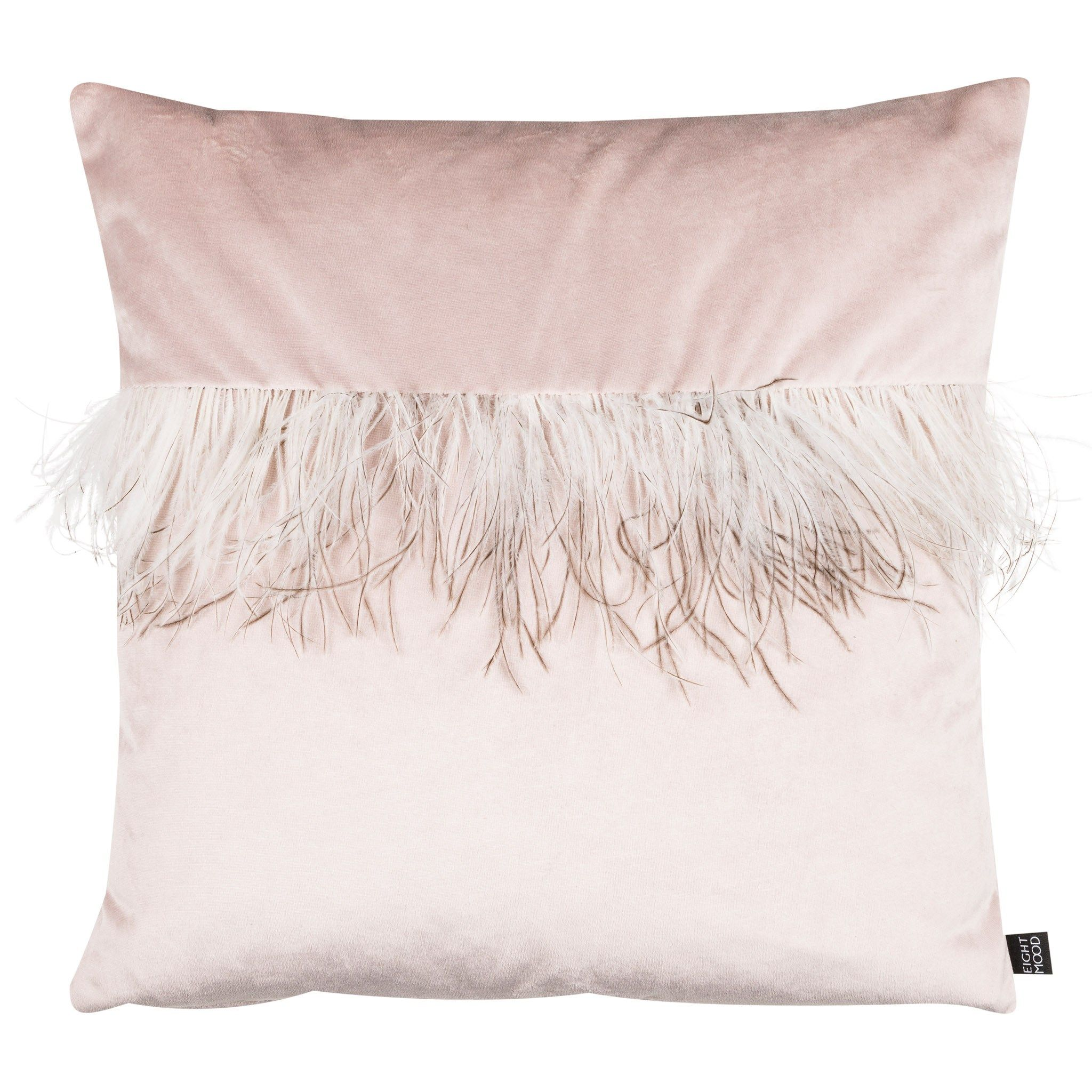 Swedish Interiordesign: Joselyn Feather Pillow, Light Pink. Shop