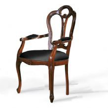 OPEN BACK VICTORIAN STYLE UPHOLSTERED CARVER DINING CHAIR