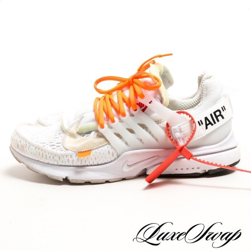2e0f98bed04f Nike Off White Virgil Abloh AA3830-100 The Ten 2017 Air Presto Sneakers 10