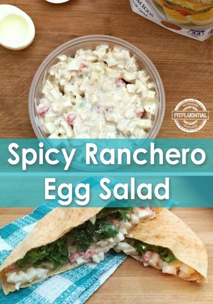 Spicy ranchero egg salad! Try this delicioous and healthy egg salad recipe, bursting with flavor and packed with protein!