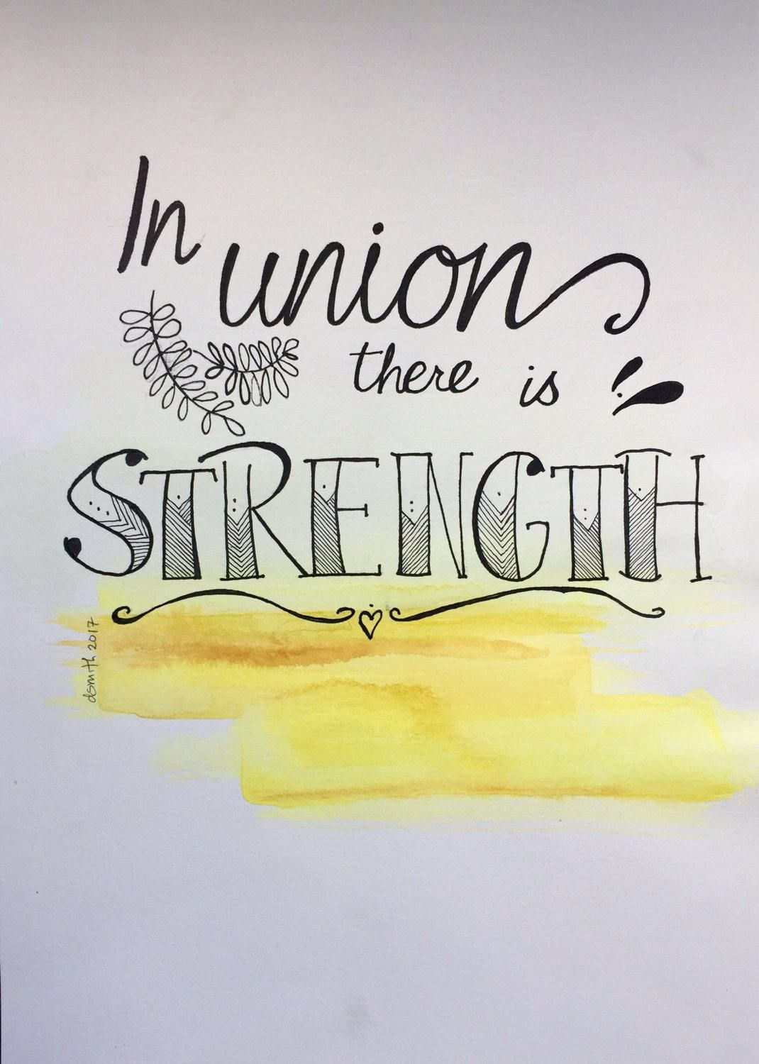 In Union...$23 Affordable Original Watercolor Painting, Hand ...