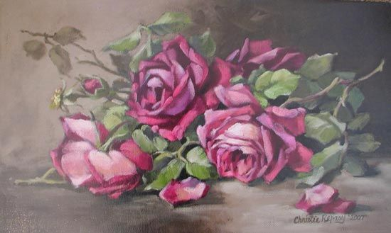 Blossom Beauty By Christie Repasy Rose Painting Flower Painting Rose Art