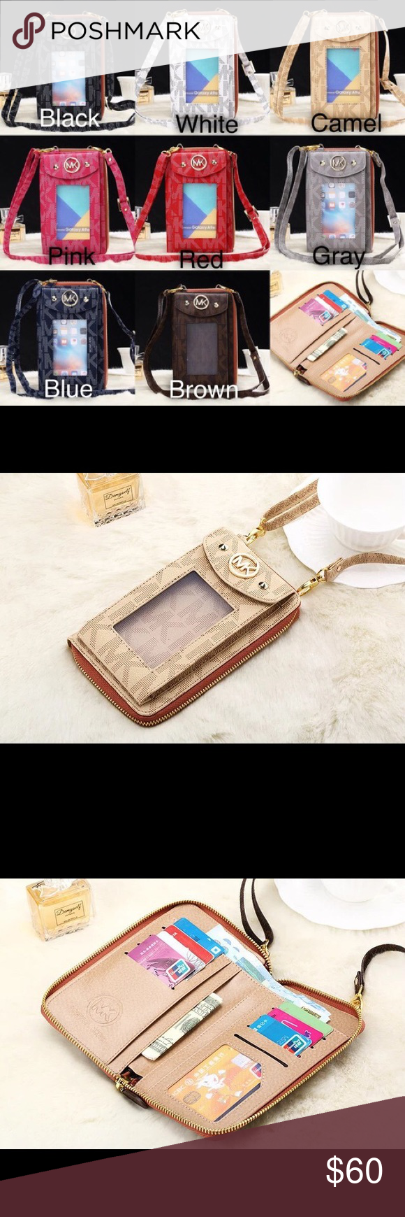 633a88dfabfa8c Michael Kors Crossbody / Wallet / Phone Case Brand new, this is a crossbody  wallet/phone case. Any and all cell phones will fit! Michael Kors Bags  Wallets