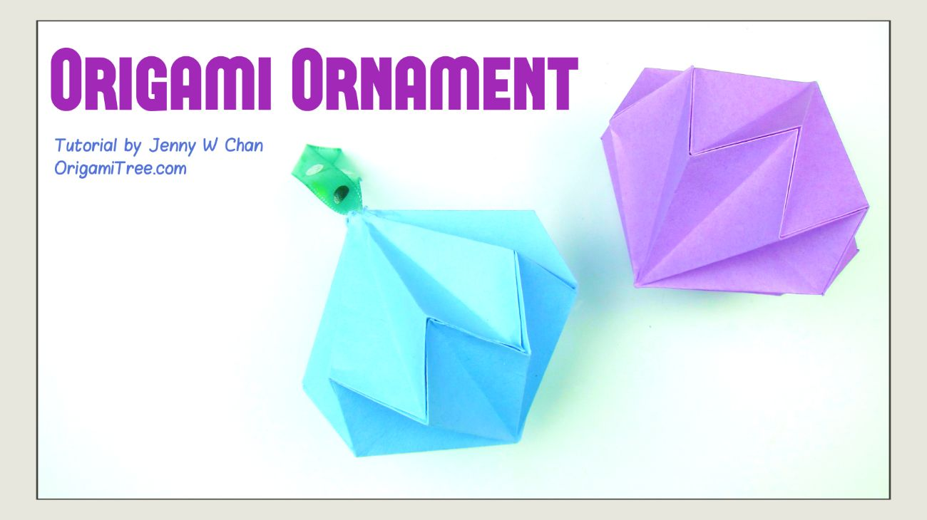 Origami Diamond Ornament Tutorial How To Make A Paper