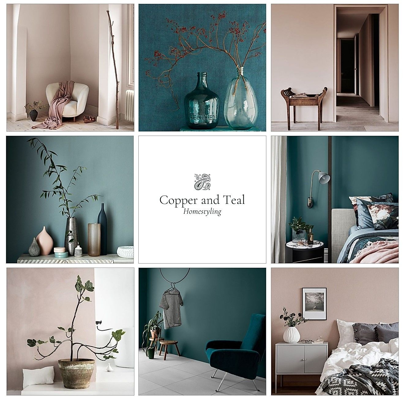 Home Colour | Copper & Teal HomestylingInteriors | Copper & Teal Homestyling | S
