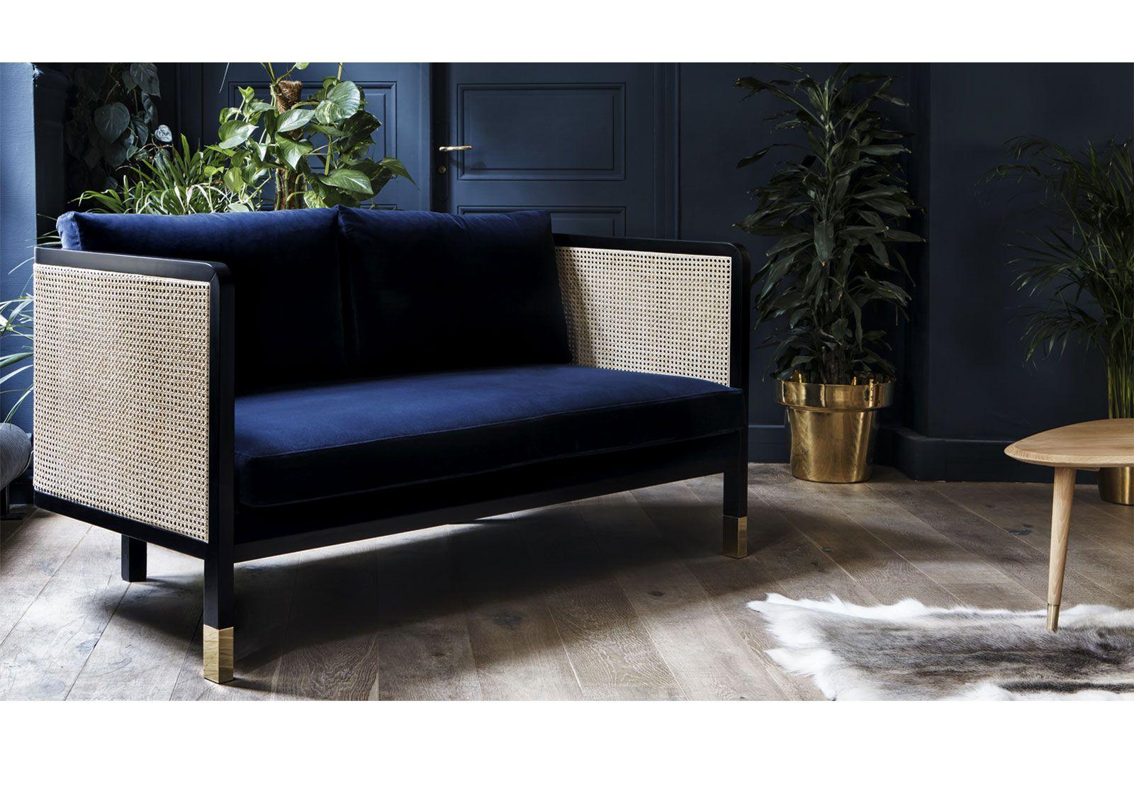 Canapé red edition, tissu velours, meuble design, mobilier design ...