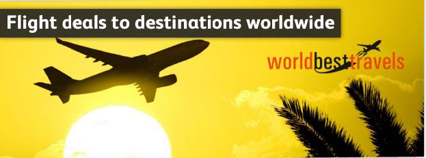 Book Cheap Airline Ticket at WorldBestTravel and get more than 20 percent cash back. Amazing Flight deals can get at WBT to Explore your holidays any where in the world. So Book your cheap Flights to go our website WorldBestTravel.