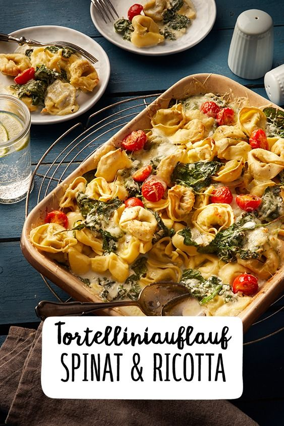 Photo of Tortellini bake with spinach and ricotta
