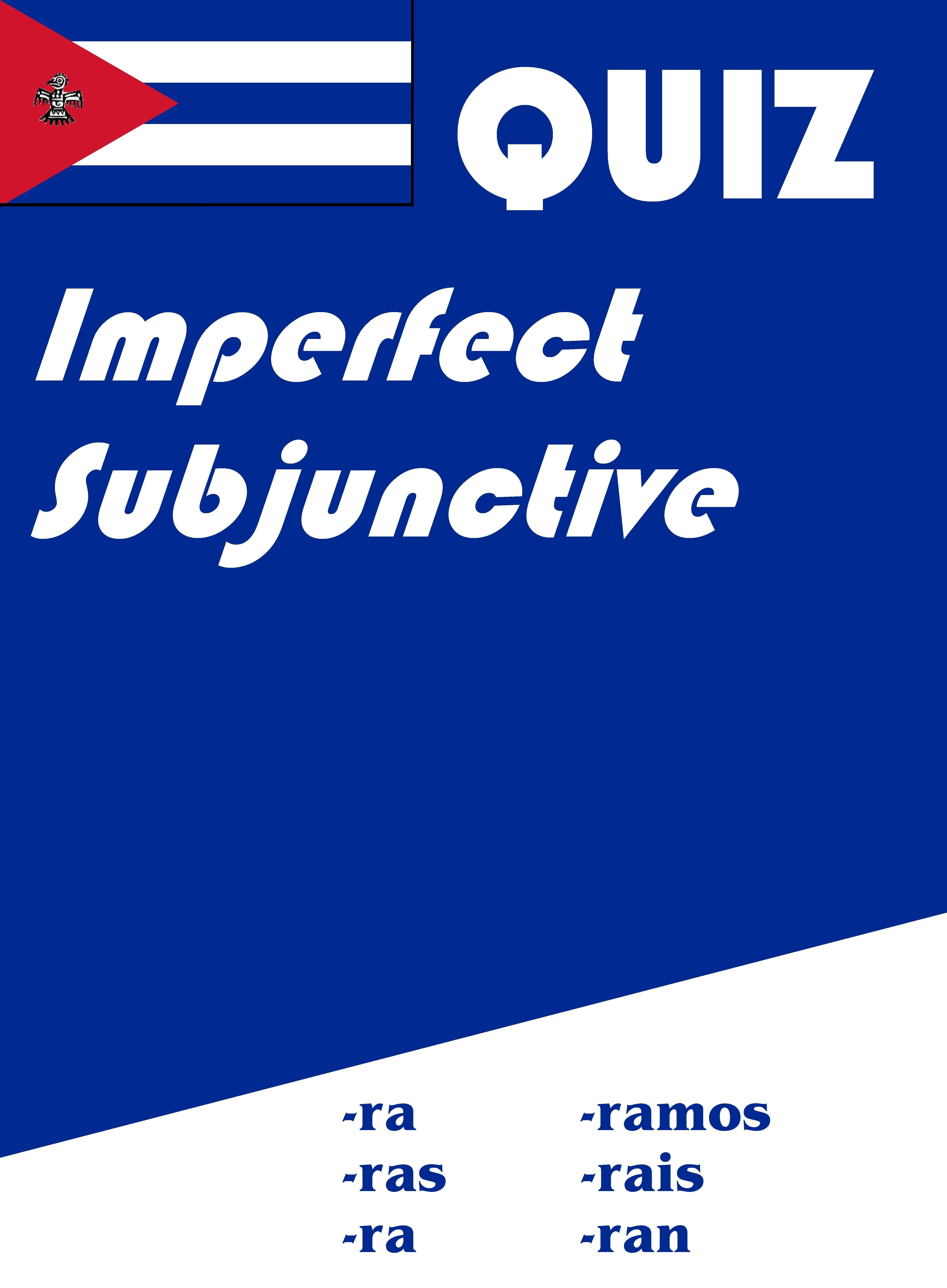 Spanish Imperfect Subjunctive Quiz Or Worksheet In