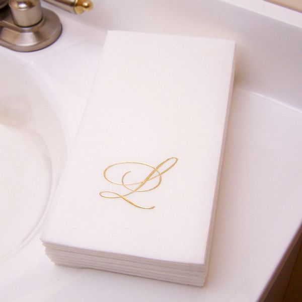 Custom Printed Premium Mlinn Disposable Guest Towels Set Of 50