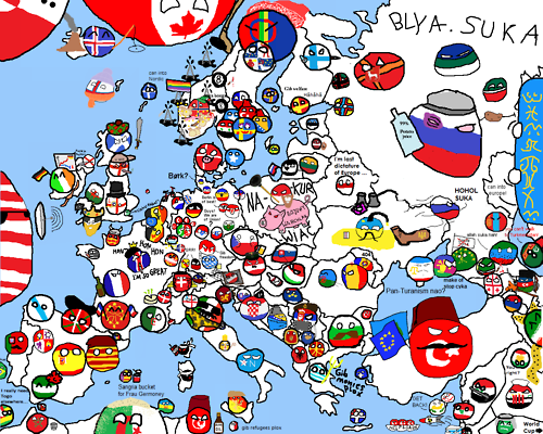Polandball Map Of The World 2017.Polandball Map Of Europe Made By Many Different People From Many