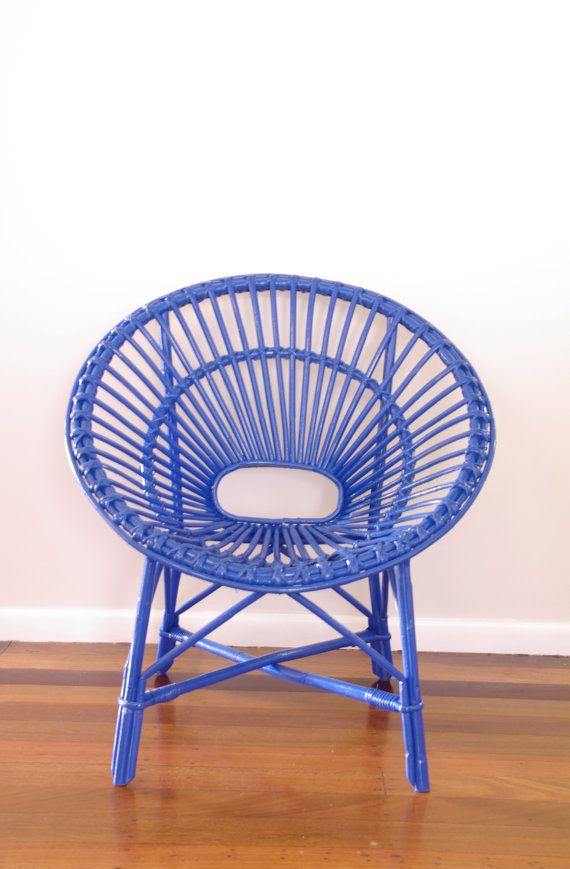 CUSTOM Upcycled Vintage Cane Saucer Chair By NeonVintageDesign,