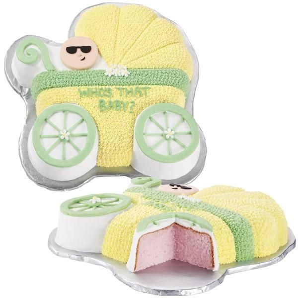 Lovely Baby Reveal Buggy Cake