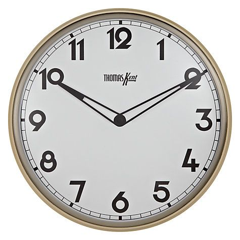 Buy Thomas Kent Empire Wall Clock Dia33cm Online At Johnlewis