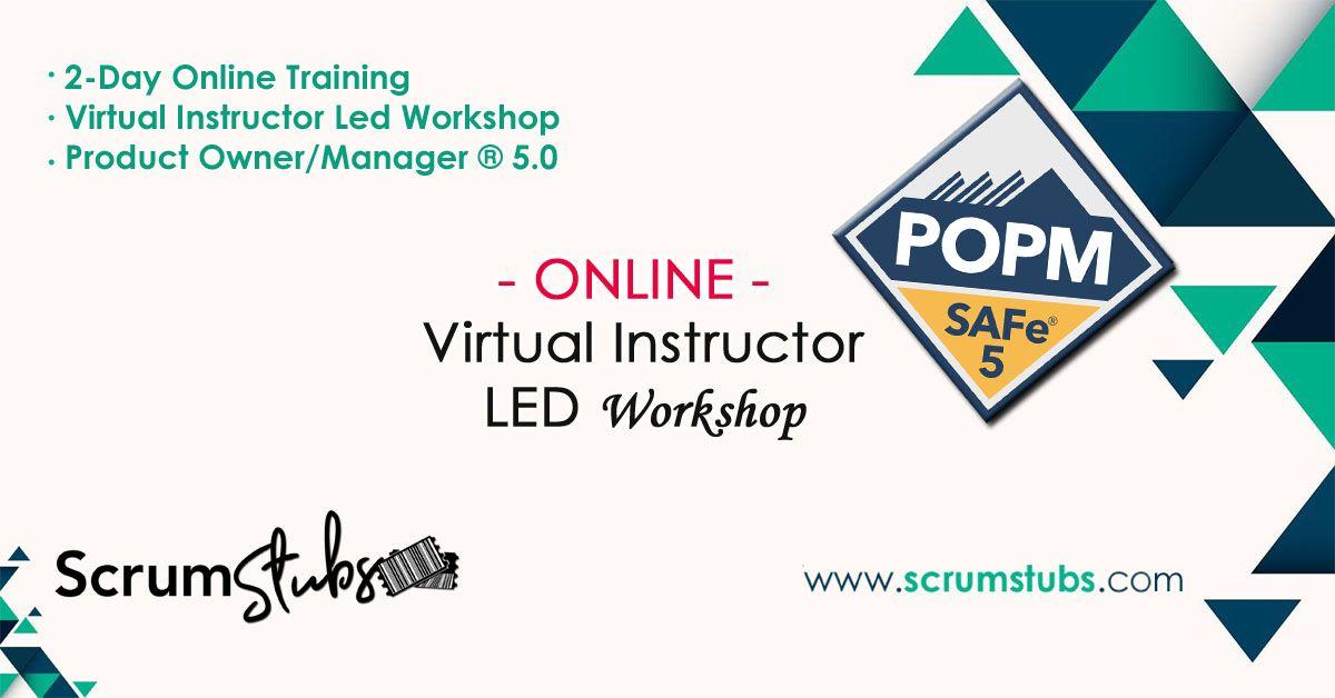 Product Owner Product Manager Popm Virtual Instructor Led Workshop 24 7 Support Scrumstubs Scrum Master Agile Development Change Management