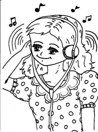 headset coloring paper da ara kitap