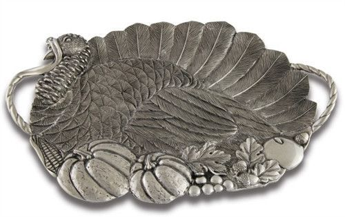 Pewter Turkey Serving Tray