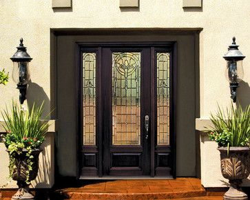 1 Panel 3 4 Lite Palacio Fiberglass Entry Door With Side Lights Tall 96 Mediterranean Front Mediterranean Front Doors Wood Exterior Door Front Door Design