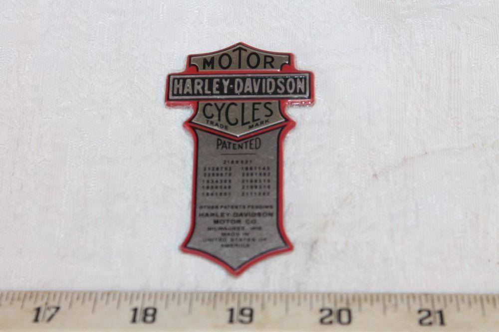 NEW! OEM Harley Davidson Wrap Around Oil Tank PATENT Name