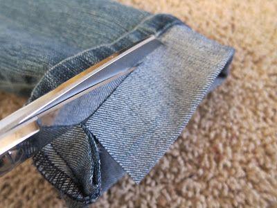 Faire un ourlet un jean en gardant la couture de l - Faire un ourlet de jean ...