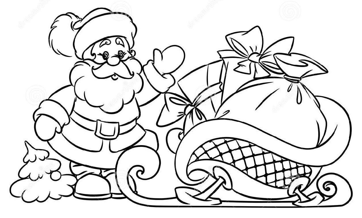 How To Draw Santa Claus Christmas Gifts Illustration Youtube Christmas Images For Drawing Christmas Tree Drawing Merry Christmas Coloring Pages