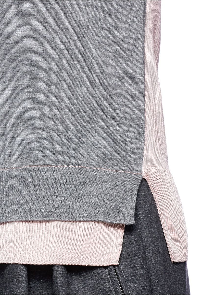 RAG & BONE - 'Nadine' contrast hem Merino wool sweater | Grey Sweater Knitwear | Womenswear | Lane Crawford - Shop Designer Brands Online