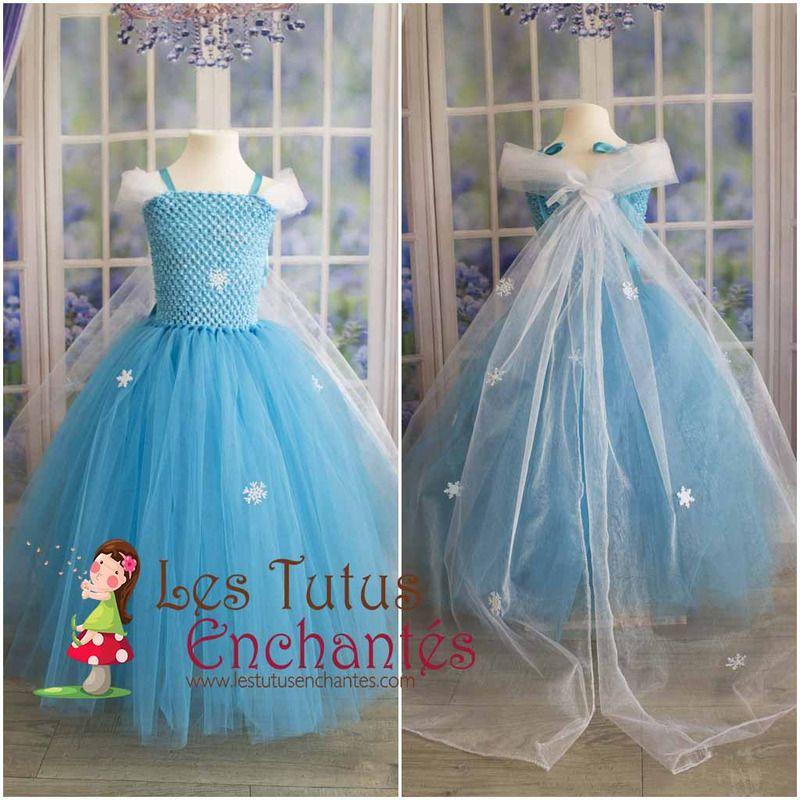 Robe Elsa reine des neiges de 1 an à 10 ans - vêtements… | Robe de ...