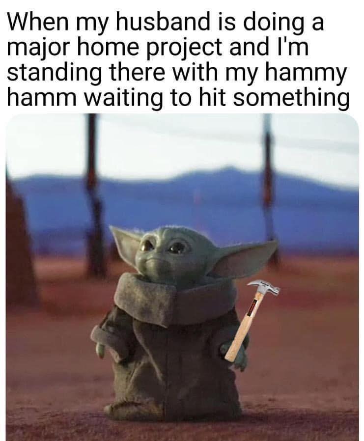 Baby Yoda Hammy Ham Helper Funny Baby Jokes Baby Jokes Funny Babies