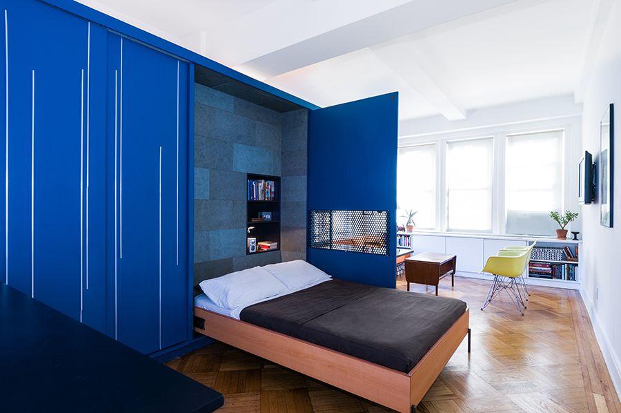 Functional 400 Sq Ft Studio Unfolding Apartment by Michael K Chen - küchen modern design