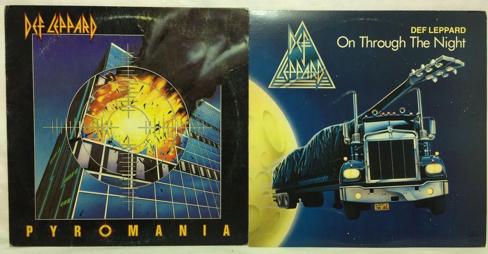 Def Leppard Original Lp Vinyl Record Lot Of 2 Pyromania On Through The Night Vinyl Records Def Leppard Vinyl