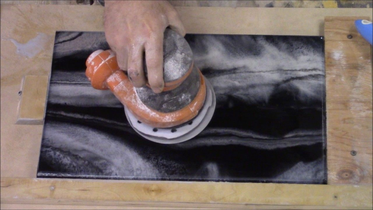 This Video Will Teach How To Polish Epoxy Countertops Using Stone