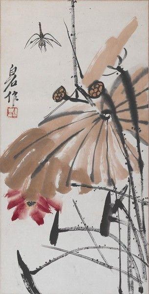 Qi Baishi, Lotus and Dragonfly, ND