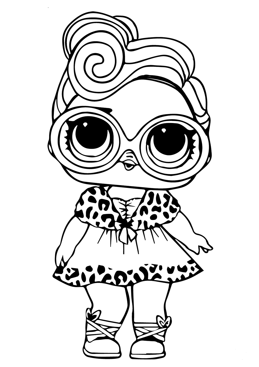 Free printable lol doll coloring pictures dollface juliana l