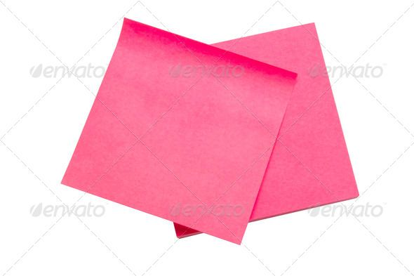 Red memo paper announcement, background, blank, board - blank memo