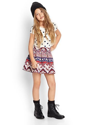 944b4f4bac44 Paisley Floral Pleated Skirt (Kids)