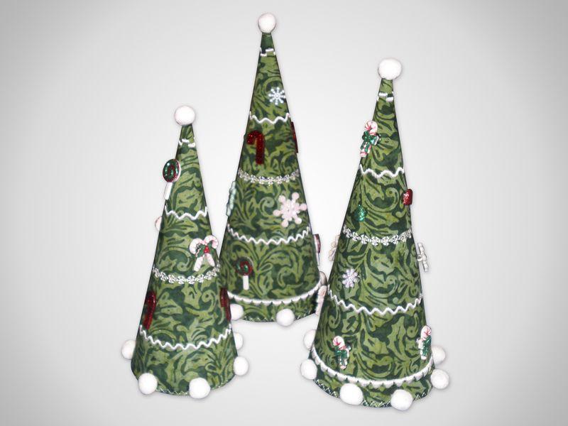 Decoración 2 Pack 3 Navidad Forma De Estrella árbol Perchas 6 Cm Rojo Fieltro Madera Beads