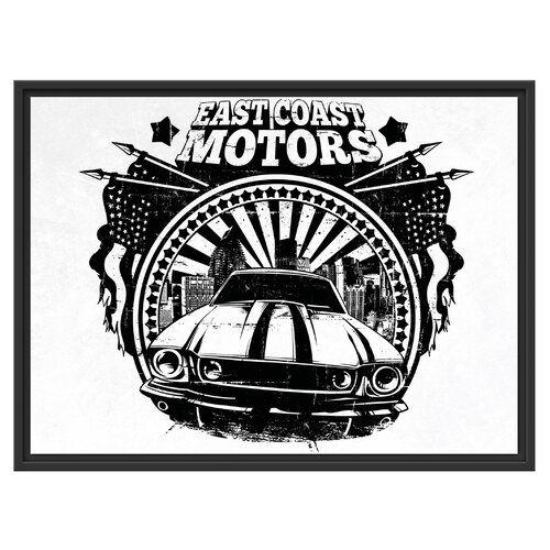 East Coast Motors >> East Urban Home East Coast Motors Framed Graphic Art Print