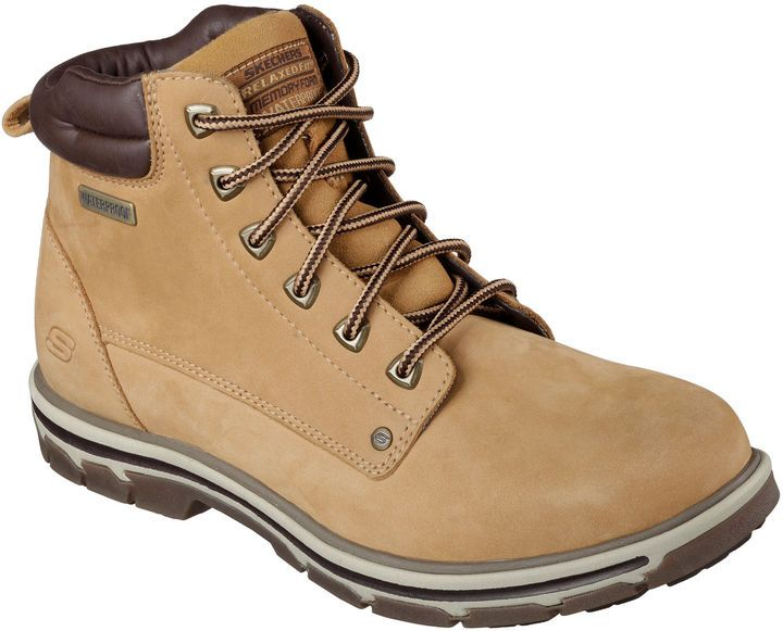 38ab1149e36 Skechers Amson Mens Lace-Up Ankle Boots | Shoes for Men | Mens ...