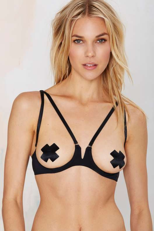 378d491ddb7196 Nasty Gal Out and About Cupless Bra