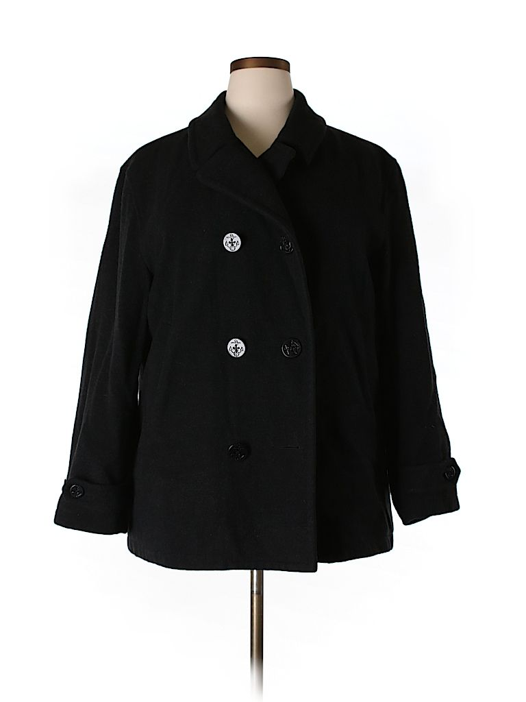 Check it out - Lands' End Wool Coat for $24.49 on thredUP!