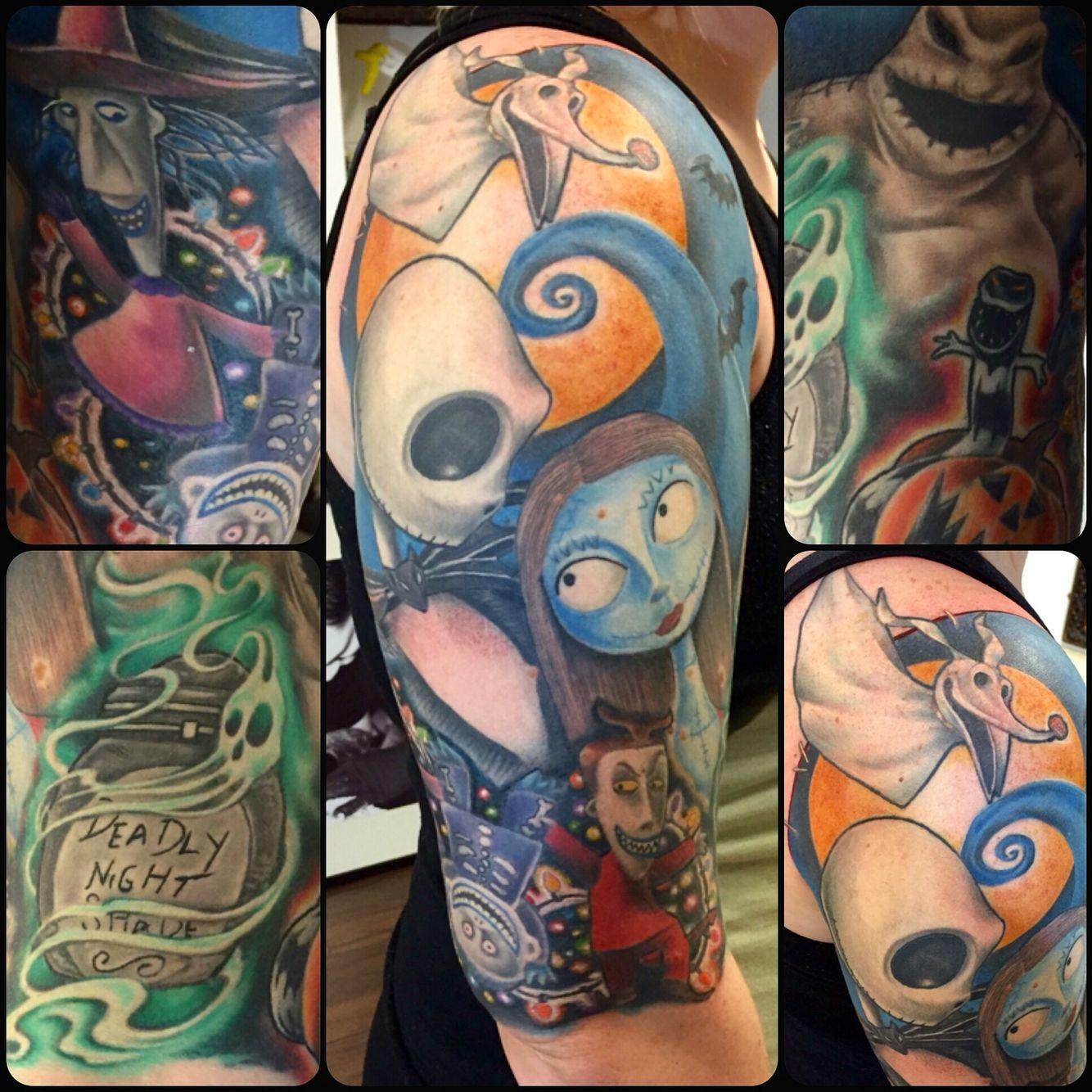 Nightmare before Christmas sleeve by Joanne Leslie | Tattoos ...