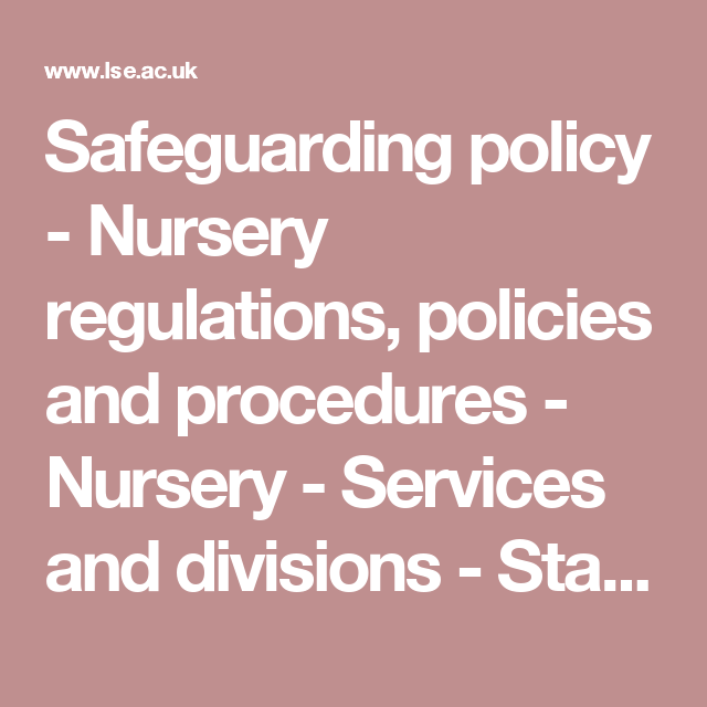 Sauarding Policy Nursery Regulations Policies And Procedures Services Divisions