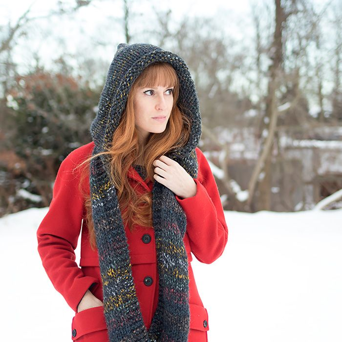 Bedrock Hooded Scarf Hooded Scarf Knit Patterns And Patterns